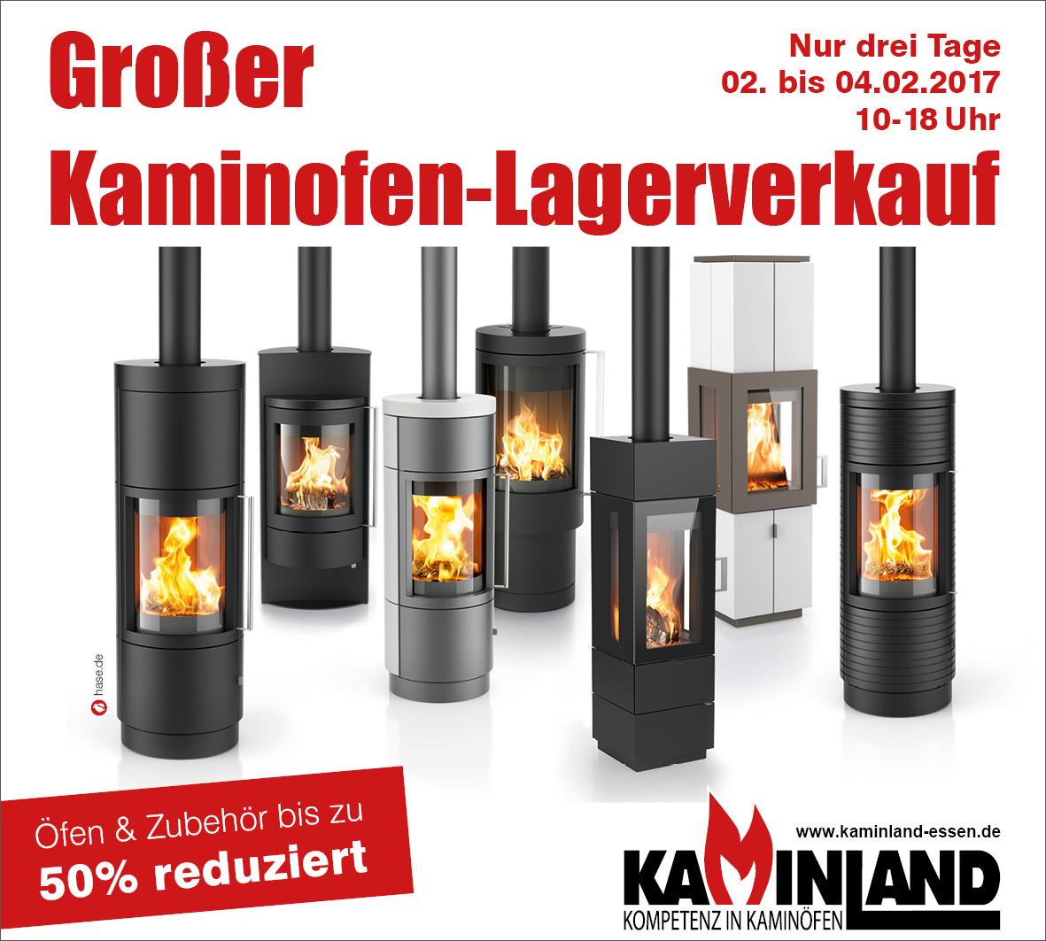 Kaminland Essen Kaminofen Lagerverkauf vom 02.02. bis 04.02.